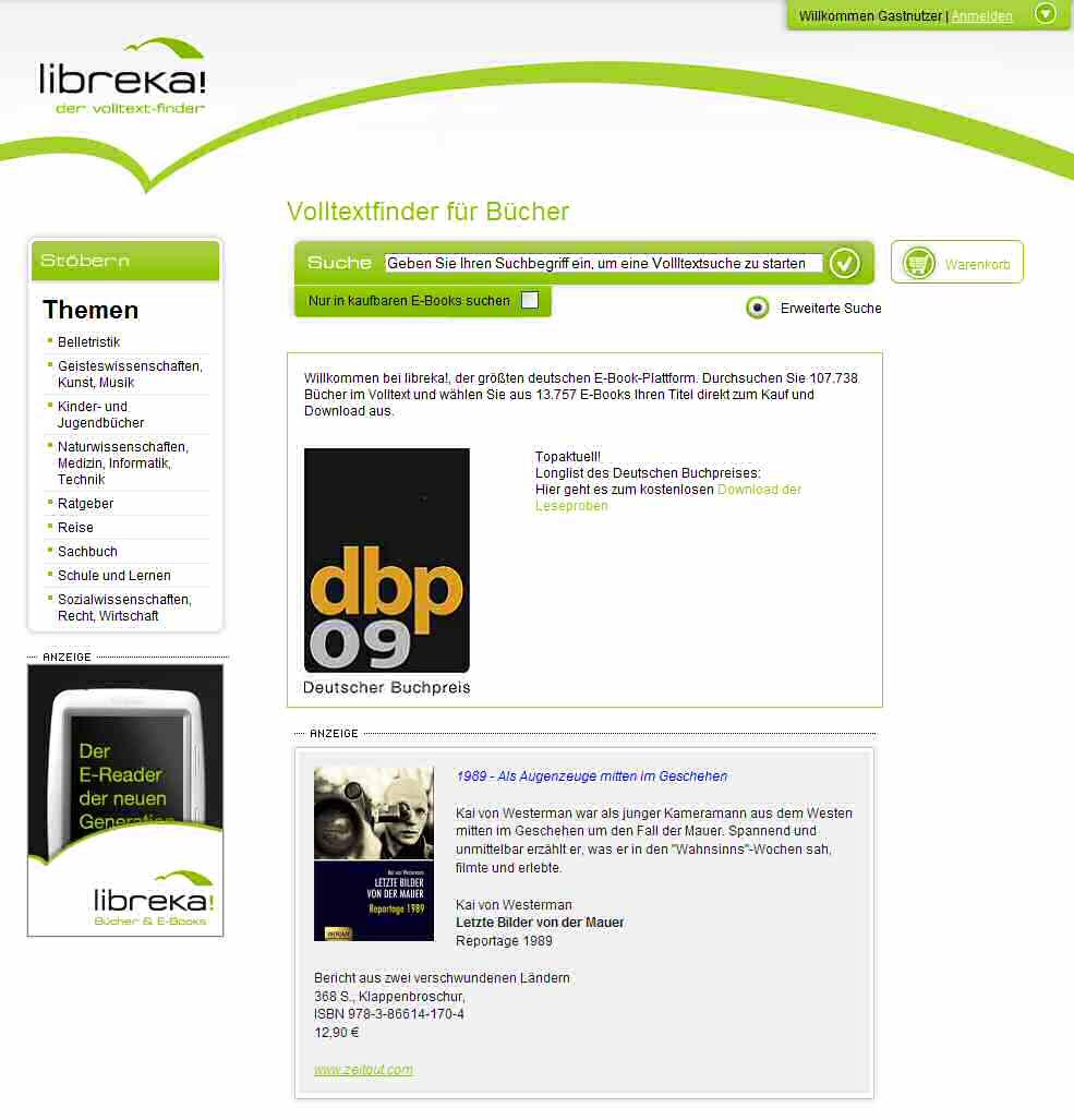 Libreka - deutsches E-Book-Portal