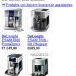 Google Adwords-Anzeigen mit Produktinformationen