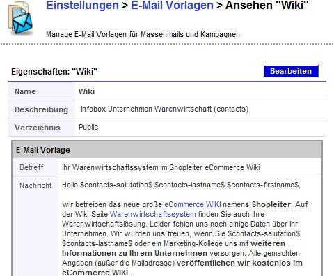 eMail Marketing mit vtiger CRM abb03 email vorlage