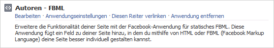 Facebook Formular in Fanpage einbauen abb1 static fbml seite
