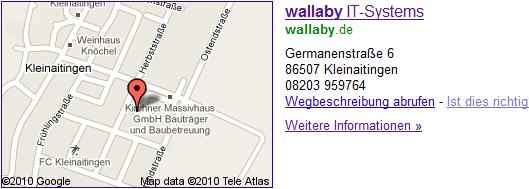 Google Sitelinks mit Google Maps