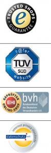 Gütesiegel Anbieter Trusted Shops TÜV EHU IPS