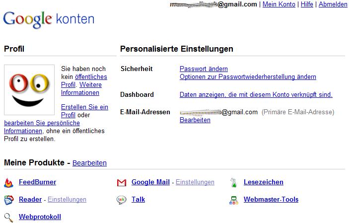 Fremder Google Account