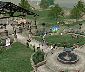 Second Life Spielewelt